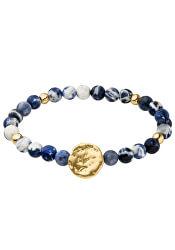 Aranyozott karkötő kék gyönggyelKate TF071