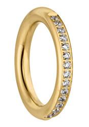 Aranyozott gyűrű cirkónium kövekkel Emily  TJ171