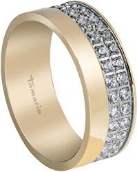 Pozlacený prsten Patty se zirkony TJ055
