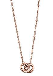 Růžově zlacený náhrdelník Emily se zirkony TJ223
