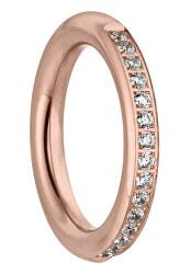 Divatos rózsaszín aranyozott gyűrű cirkónium kövekkel Emily TJ172