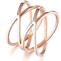 Romantický bronzový prsten z oceli KRS-275