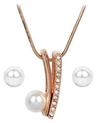 Bronzová sada náušnic a náhrdelníku Pearl Vivien