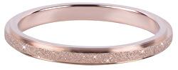 Bronzový ocelový třpytivý prsten