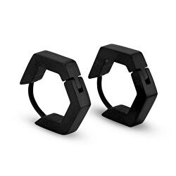 Čierne kruhové náušnice KS-158