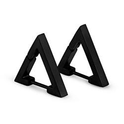 Čierne trojuholníkové náušnice KS-159