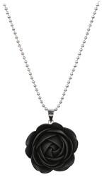 Čierny náhrdelník kytička