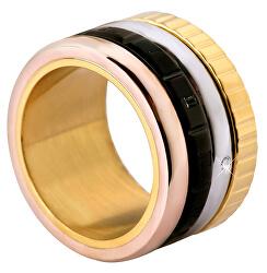 Négy színű acél gyűrű