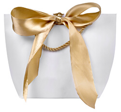 Darčeková taška so zlatou stuhou M