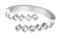 Dizajnový oceľový prsteň so zirkónmi