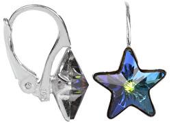 Dívčí stříbrné náušnice Star 10 mm Vitrail Medium