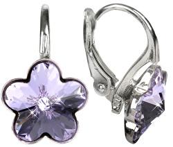 Dívčí stříbrné náušnice Flower Violet
