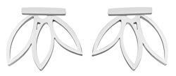 Ocelové designové náušnice 2v1