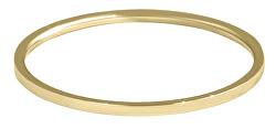 Elegantní minimalistický prsten z oceli Gold