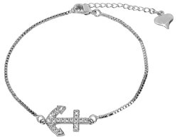 Elegantes Armband mit glitzerndem Anker