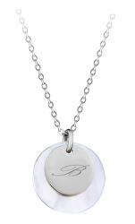 """Elegantní ocelový náhrdelník s přívěsky písmeno """"B"""""""