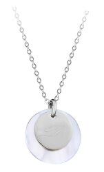 """Elegantní ocelový náhrdelník s přívěsky písmeno """"D"""""""