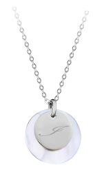 """Elegantní ocelový náhrdelník s přívěsky písmeno """"I"""""""