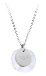 """Elegantní ocelový náhrdelník s přívěsky písmeno """"K"""""""