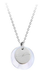 """Elegantní ocelový náhrdelník s přívěsky písmeno """"N"""""""