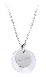 """Elegantní ocelový náhrdelník s přívěsky písmeno """"P"""""""