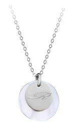 """Elegantný oceľový náhrdelník s príveskami písmeno """"R"""""""