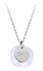 """Elegantný oceľový náhrdelník s príveskami písmeno """"V"""""""