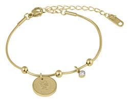 Elegantní ocelový náramek Coin Gold