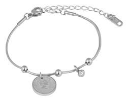 Elegantní ocelový náramek Coin Silver
