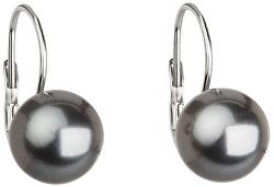 Elegantní perlové náušnice s klapkou Pearl Grey 71106.3