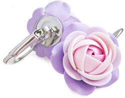 Fialovo-ružové visiace náušnice kvietky