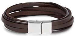 Hnědý kožený náramek Leather