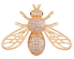 Hravá pozlacená brož ve tvaru včelky KS-222