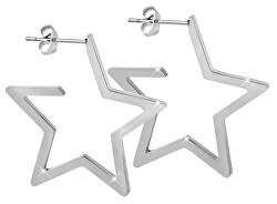 Hvězdné ocelové náušnice