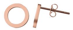 Jednoduché růžově zlacené náušnice Kroužky