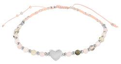 Feines Perlenarmband mit Herz VBD392-B
