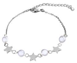 Jemný ocelový náramek s perličkami