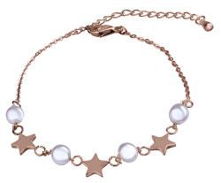 Jemný pozlacený náramek s perličkami