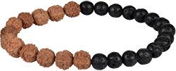 Korálkový náramok z lávových kameňov a Rudraksha