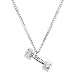 Luxusné oceľový náhrdelník s činkou