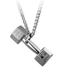 Luxusní ocelový náhrdelník s činkou