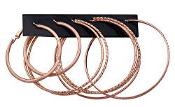Luxusní sada kruhových náušnic Rose Gold (3 páry)