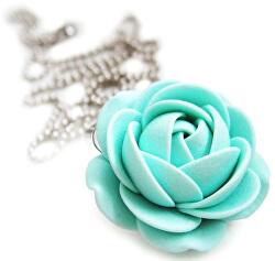 Mentolový náhrdelník kytička