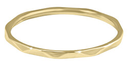 Minimalistický pozlacený prsten s jemným designem Gold
