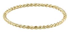 Minimalistický pozlacený prsten z oceli Gold