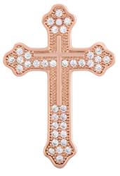 Moderní bronzová brož Křížek KS-224