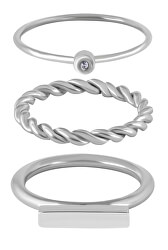 Moderní sada ocelových prstenů