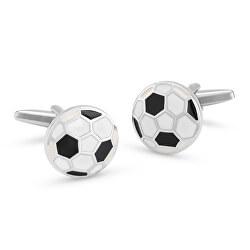 Módní manžetové knoflíčky fotbalový míč KS-186