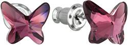 Motýlkové náušnice Butterfly Amethyst
