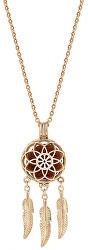 Multifunkční pozlacený náhrdelník Lapač snů s vyměnitelným středem Aroma 132462J